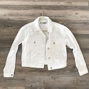 White Denim TopShop MOTTO Jacket